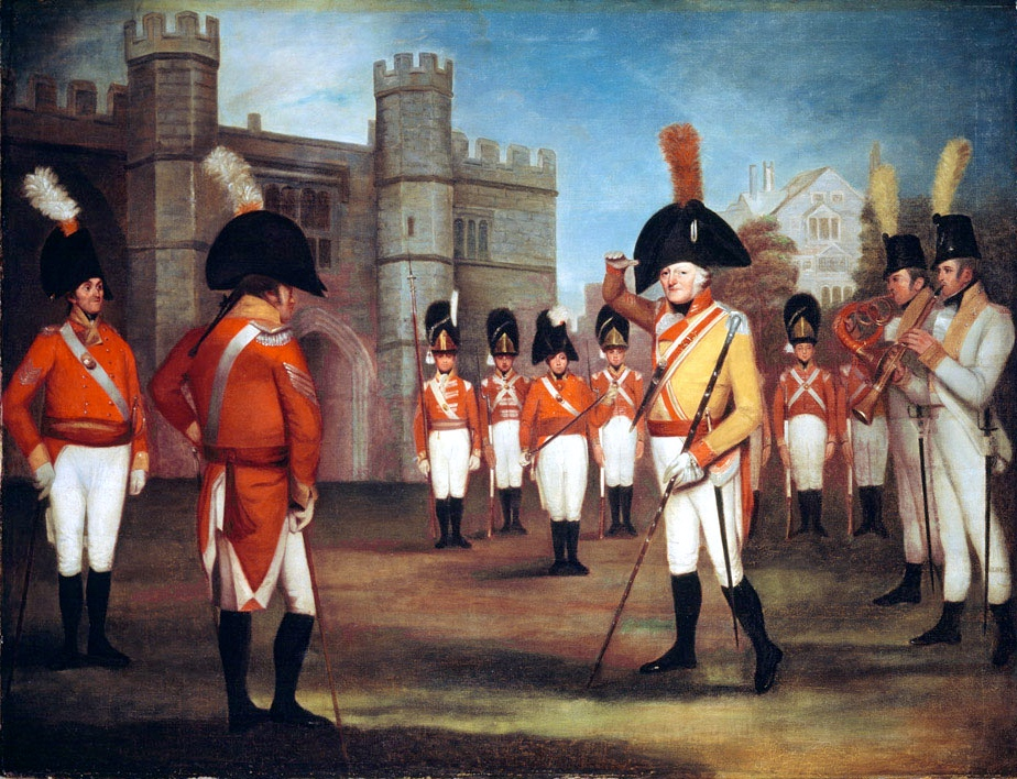The Staffordshire Militia on parade at Windsor Castle, 1804 (c)