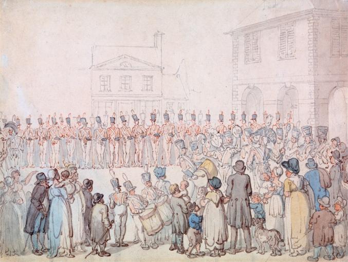 Rowlandson's Review of the Northampton Militia at Brackley.jpg