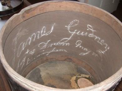 Guidney drum interior (Toronto Museums Service)