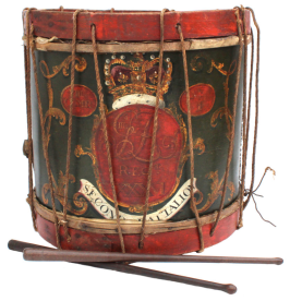 Drum of 2/36th Foot, auctioned by Waterloo Militaria (2019)
