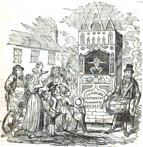 """""""Fantoccini"""" by George Cruikshank, engraved by H. White, from W. Hone, The Every-day Book (London, 1825)"""